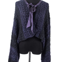 Navy Knit Cardigan size:46