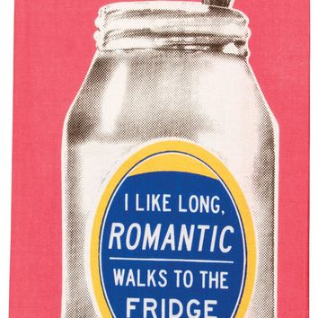 I Like Long, Romantic Walks To The Fridge Dish Towel