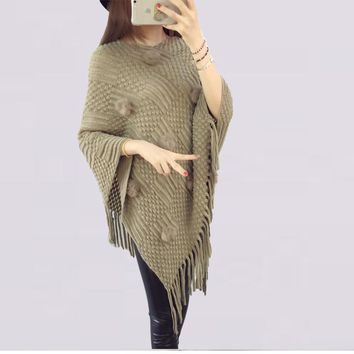 Womens Cool Irregular Casual Batwing Sweater
