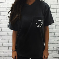 New 2016 Summer Ivory Ella Elephant Print T-Shirt