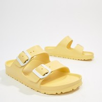 Birkenstock Arizona Eva Yellow Flat Sandals at asos.com