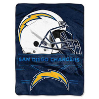 San Diego Chargers Prestige 60x80 NFL Blanket - Free Shipping in the Continental US!