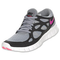 Nike Free Run+ 2 Women's Running Shoes | FinishLine.com | Stealth/Vivid Grape/Black/Laser Pink