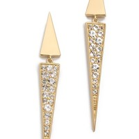 Elizabeth and James Itten Pave Earrings