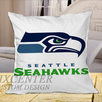 Seattle Seahawks  on Square Pillow Cover