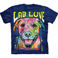 The Mountain LAB LOVE Labrador Retriever Dog Face Dean Russo T-Shirt S-3XL NEW