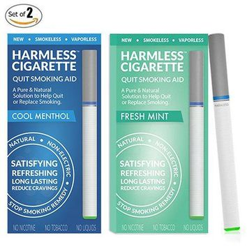 Quit Smoking Aid / Stop Smoking Remedy To Help Reduce Cravings / Natural, Satisfying & Effective Solution (2 Pack, Harmless Cigarette / Variety Set)