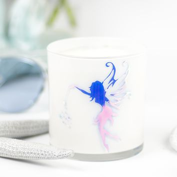 Fairy Graphic Jar in Violet Lime Scent