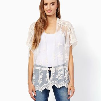 Leia Lacy Days Kimono | Shirts and Tops - Southwest Style | charming charlie
