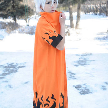FREE SHIPPING! Wig, Cloak, Naruto COS Clothing, Naruto Clothes, 四代目火影 Cloak, Uzumaki Naruto Cosplay Clothing, Christmas Halloween Party Gift