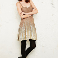 Free People Foil Lace Dress in Cream - Urban Outfitters