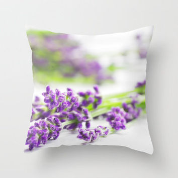lavender scent Throw Pillow by Tanja Riedel | Society6