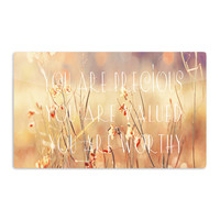 "Suzanne Carter ""You are Precious"" Quote Aluminum Magnet"