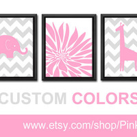 floral nursery baby girl decor minimalist flower print pink grey burst flourish kids art girls gift elephant girl room decor flourish print