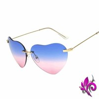 Rimless Heart Shape Sunglasses