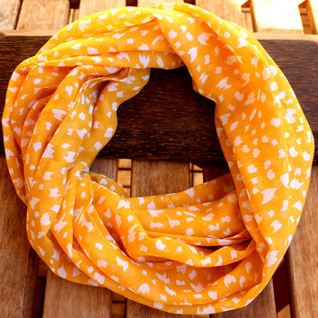 Spring Scarf Mustard Yellow Infinity Scarf Eternity Scarf Urban Outfit Scarf Fabric Solid Color Loop Spring Scarf