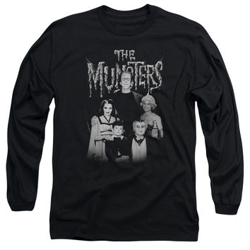MUNSTERS/FAMILY PORTRAIT - L/S ADULT 18/1 - BLACK -