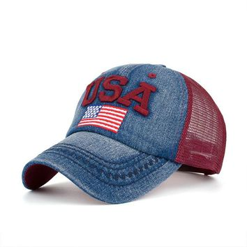 KB Brand Cotton Embroidery Letter USA Baseball Cap Snapback  Bone casquette Hat Distressed Wearing Fitted Hat For Men Custom