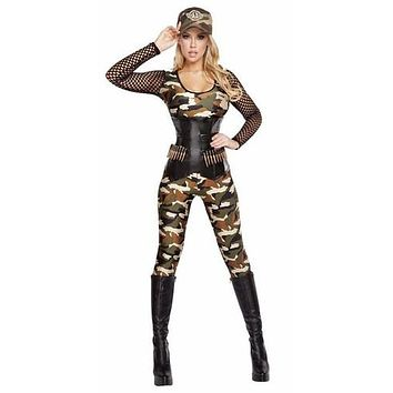 Sexy Lady Rambo Queen of the Jungle Halloween Costume