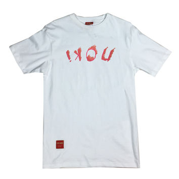 ikon Upside Down Smear Tee (white)