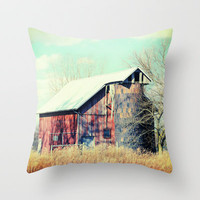 Barn in the heartland Throw Pillow by Wood-n-Images
