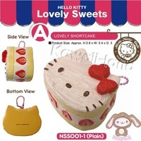 Sanrio Licensed Hello Kitty Lovely Sweets Squishy ~ Shortcakes