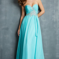 Night Moves Strapless Sweetheart Dress