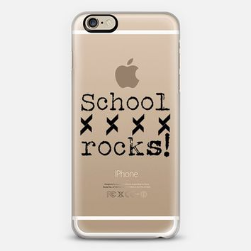School Rocks in BW - Back to school iPhone 6 case by Yasmina Baggili | Casetify