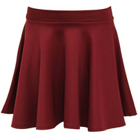 Ellie Scuba Skater Skirt in Wine Red