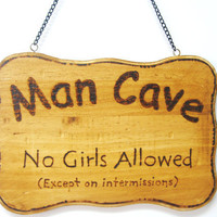 Man Cave sign For your Pub basement or garage by KnottyNotions