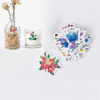 45pcs Flowers Paper Sticker Decor Diy Ablum Diary Scrapbooking Label Stickers