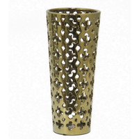 Benzara 70093 Enticing Figurine Vase with Cut Outs