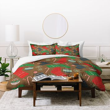 Pimlada Phuapradit Christmas Ornaments Duvet Cover
