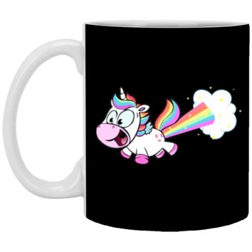 Farting Unicorn Funny Rainbow Farts Mug Coffee Mug 11 oz Mug