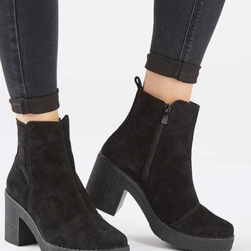 BAY Suede Heeled Boots - Shoes