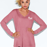 Super Soft Long Sleeve V-Neck Tee - PINK - Victoria's Secret