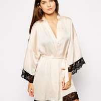 The Intimate Collection By Britney Spears Amaryllis Lace Edge Kimono at asos.com