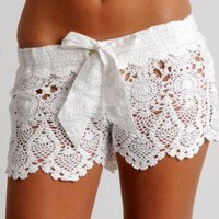 Letarte Hawaii Crochet Shorts