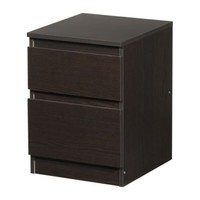 "KULLEN Chest with 2 drawers, black-brown - 13 3/4x19 1/4 "" - IKEA"