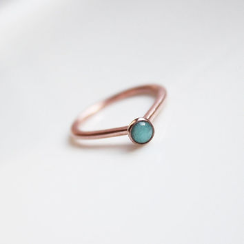 Gemstone Ring, Simple Turquoise Ring band, Labradorite Triangle ring, Amazonite ring, Kyanite ring