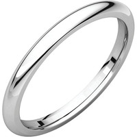 10k White Gold 2mm Comfort Fit Wedding Band Ring - Bridal Jewelry: RingSize: 00