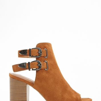 Cutout Peep-Toe Booties