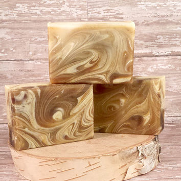 Turmeric and Green Tea Soap, evens skin tone, reduces acne scars, antioxidants, skin brightener, Gentle natural soap, Homemade Soap