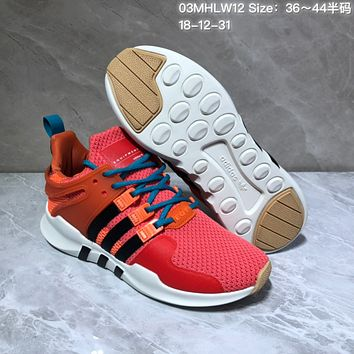 HCXX A553 Adidas EQT Cushion ADV Mesh Knit Fashion Running Shoes Red Orange