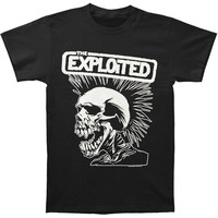 Exploited Men's  Skull T-shirt Black