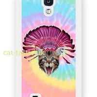 case,cover fits samsung models>crazy cat,kitty,funny,Tie Dye,indian hat,emoji