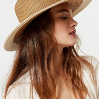 Colorblocked Straw Rancher Hat   Urban Outfitters