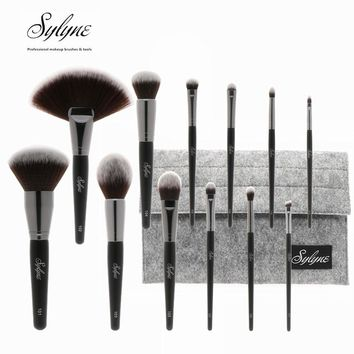 Sylyne 12pcs full professional makeup brush set holder high quality soft make up brushes kit tools.