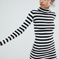 Daisy Street Jumper Dress In Stripe at asos.com