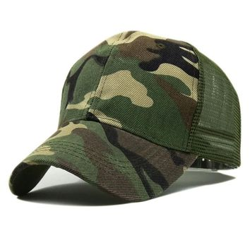 Trendy Winter Jacket New Camo Mesh Baseball Cap Men Camouflage Caps Masculino Summer Hat Men Army Cap Trucker Snapback caps Hip Hop Dad hat AT_92_12